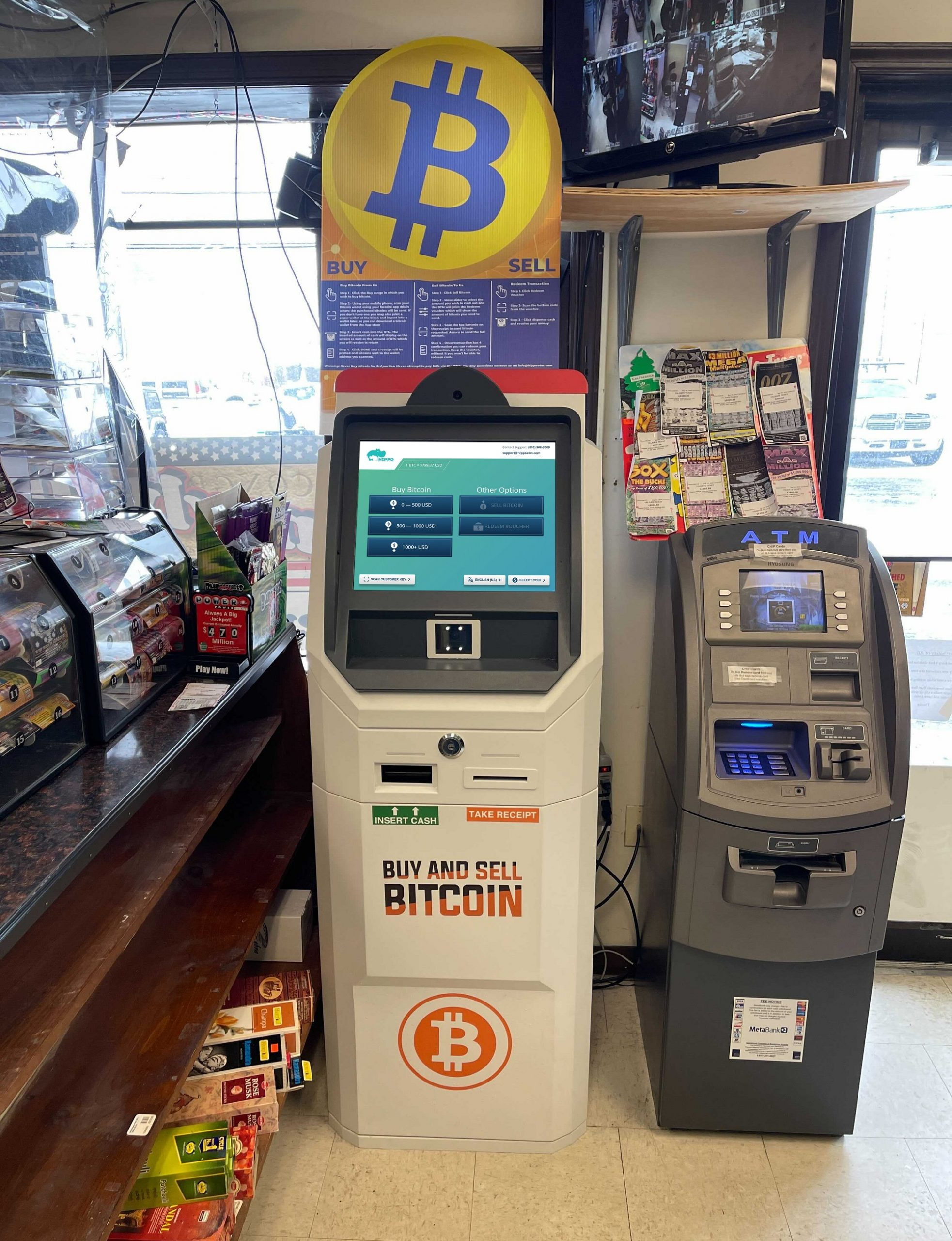 Bitcoin ATM Catasaqua for buying and selling bitcoin by hippo kiosks